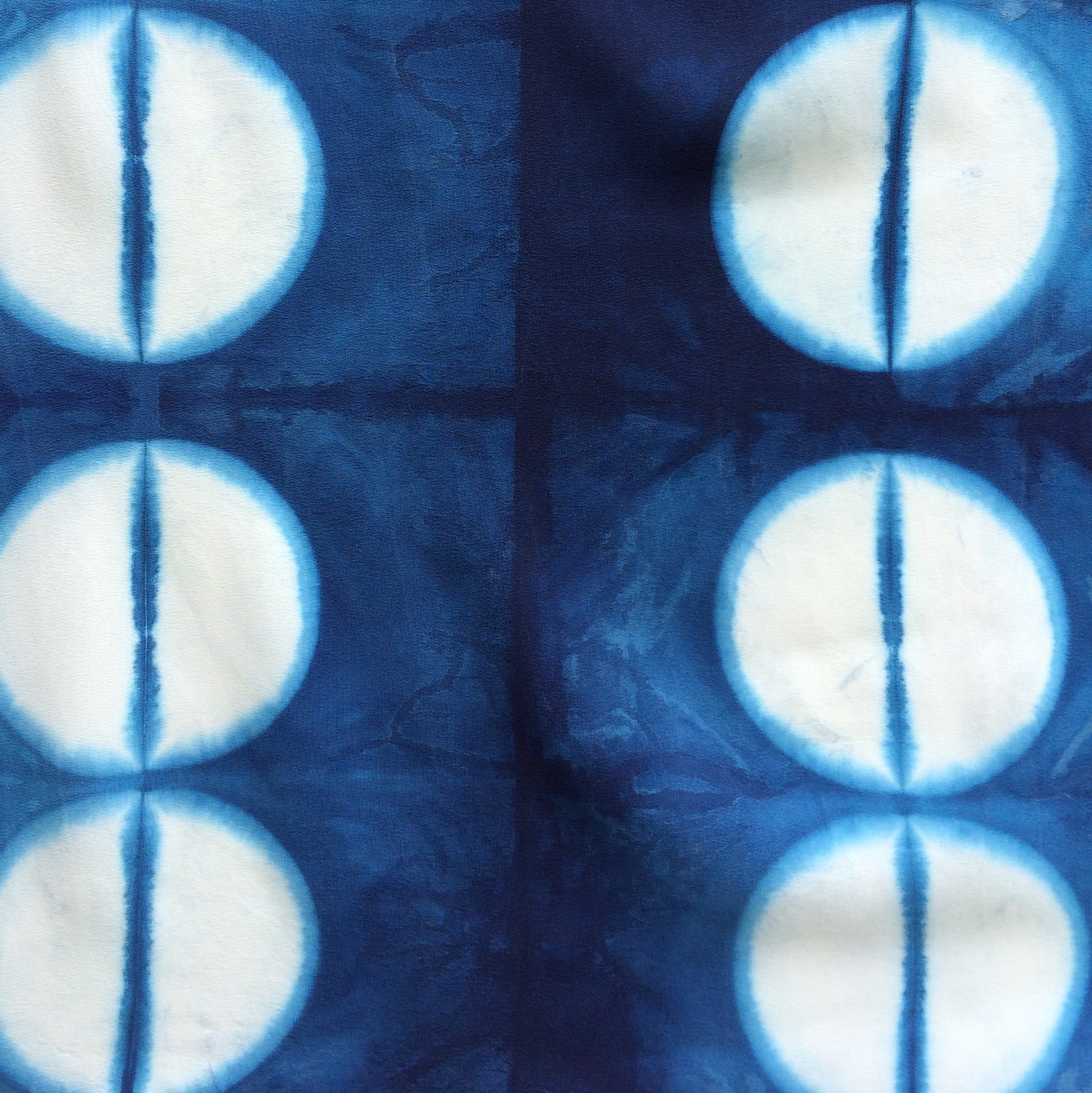 Shibori and Indigo dye design by Lara Mantell